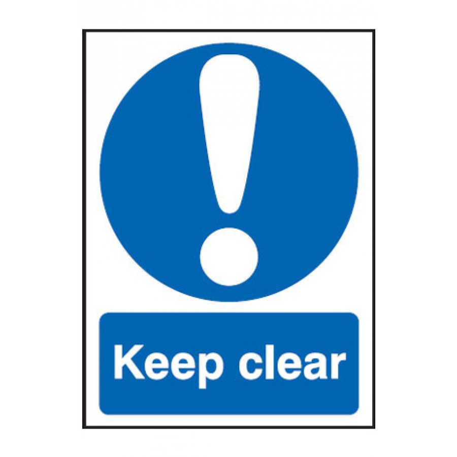Keep Clear Ppe Sign Exit Safety Signs From Anglian Chemicals