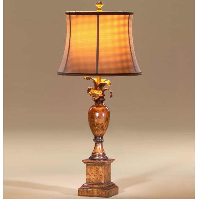 Pollard burl urn table lamp
