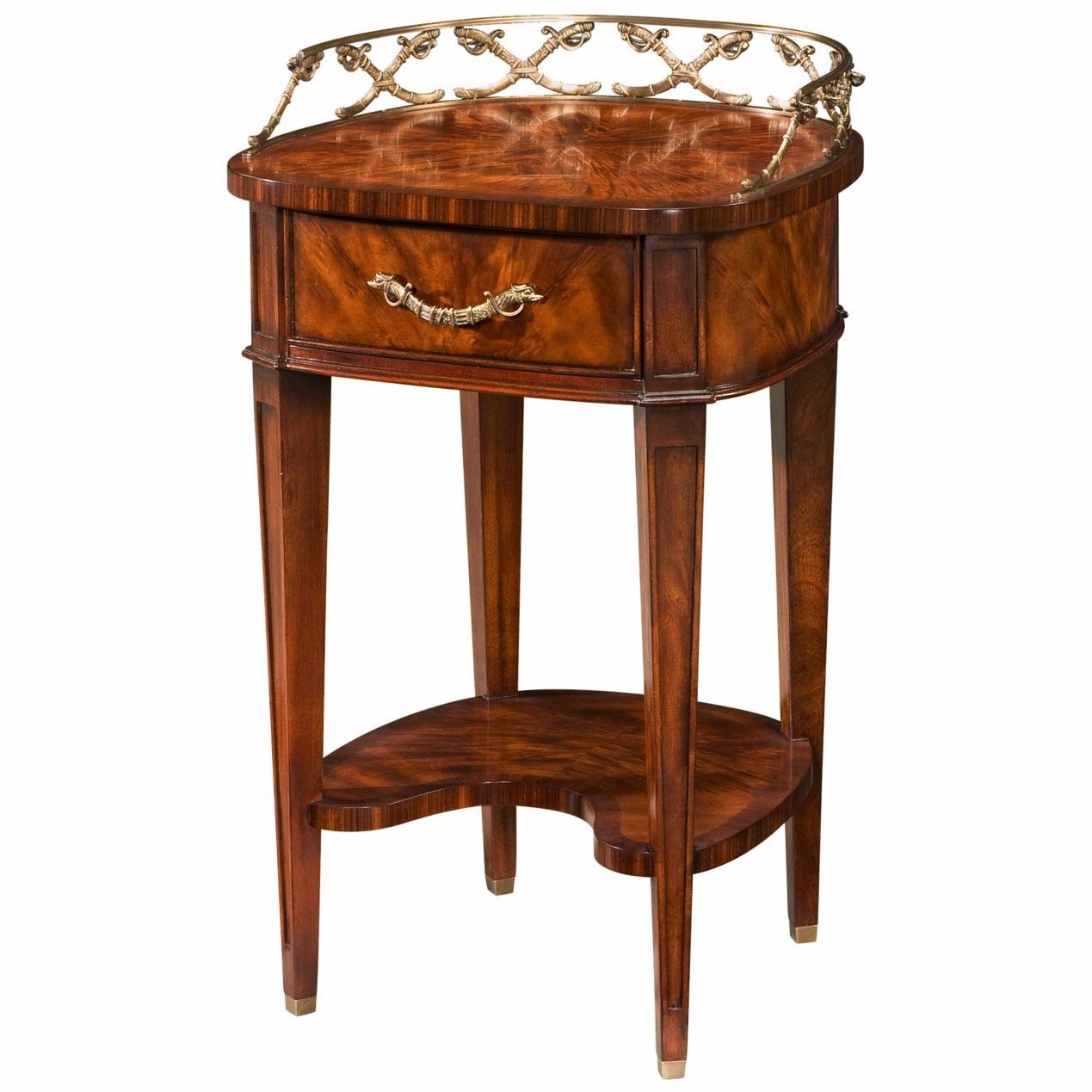 Mahogany lamp table or bedside
