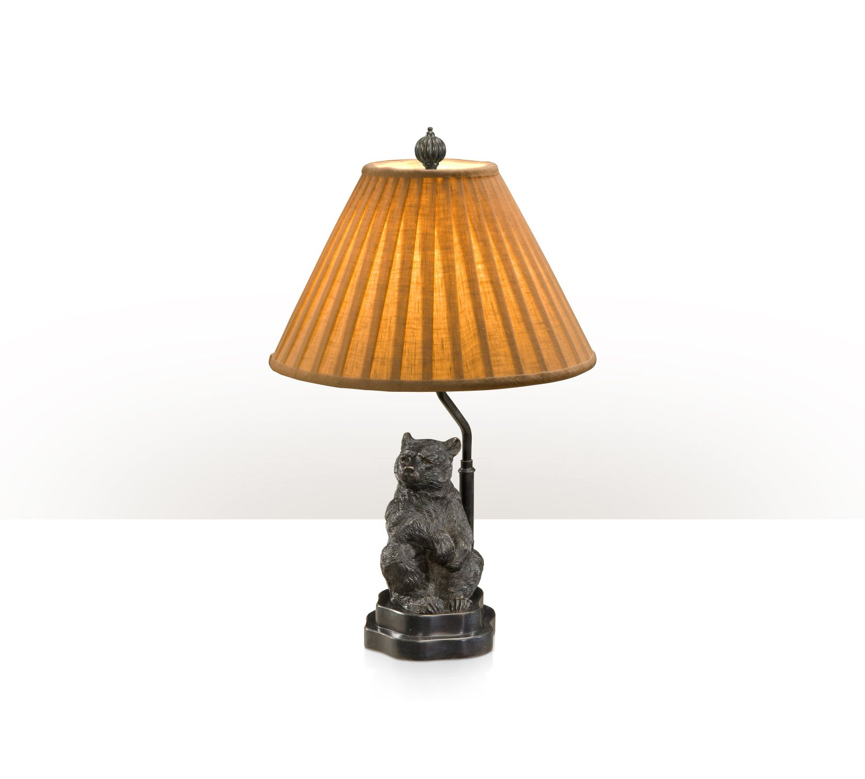 Verdigris brass table lamp