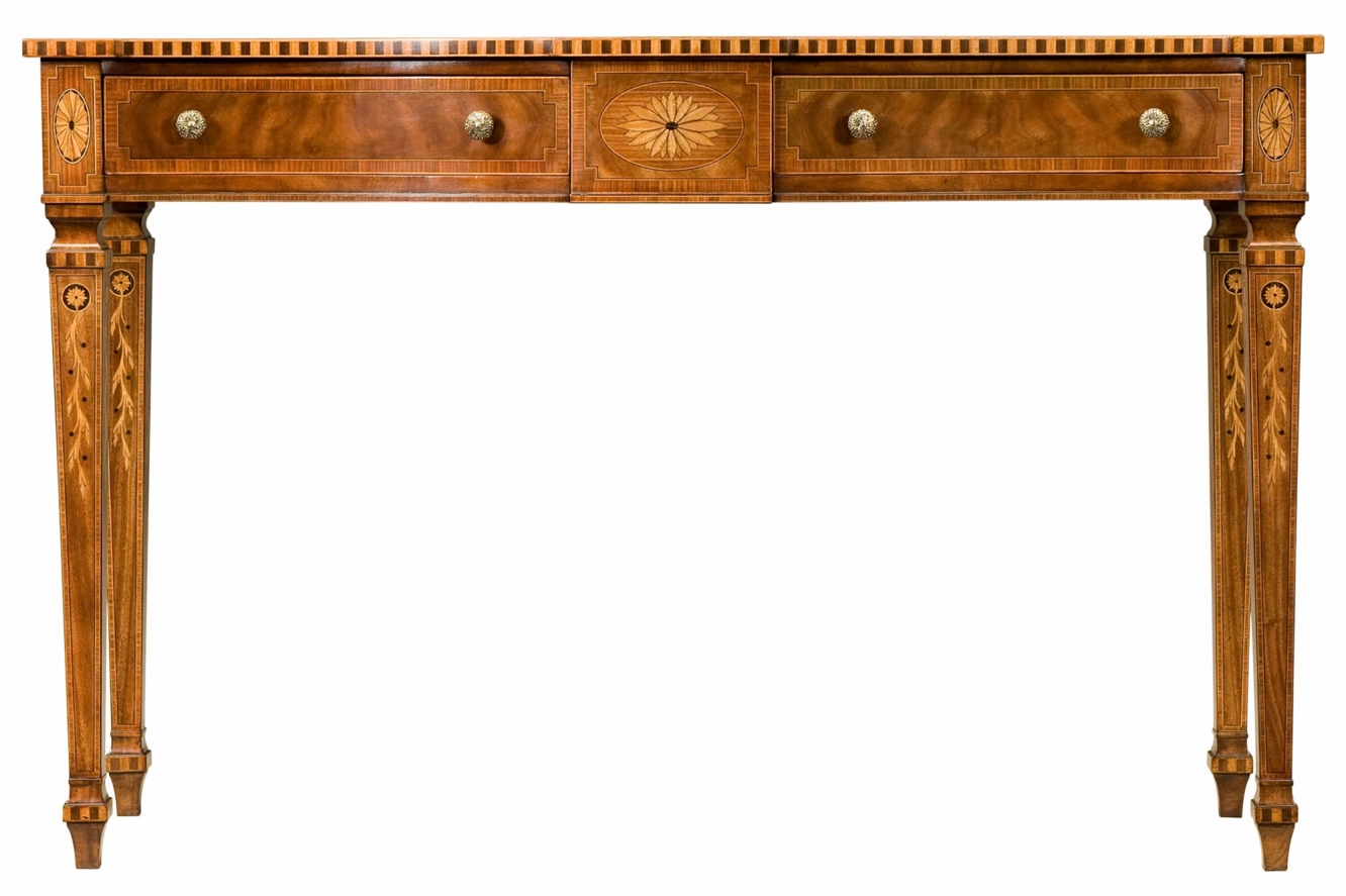 Serpentine mahogany console table