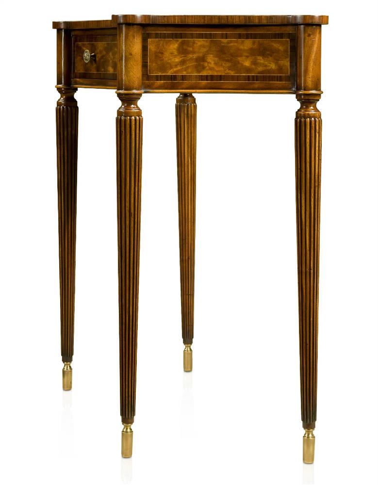 A flame mahogany console table