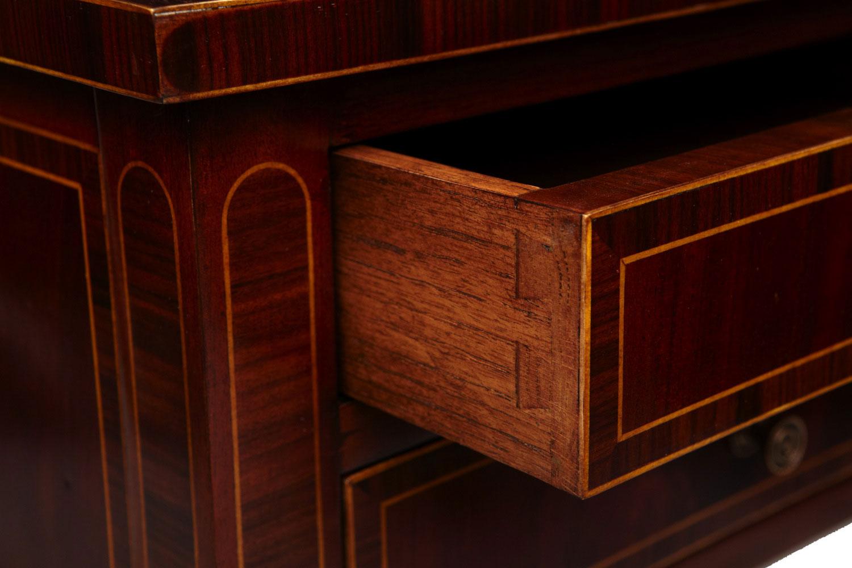 Mahogany 2 drawers bedside