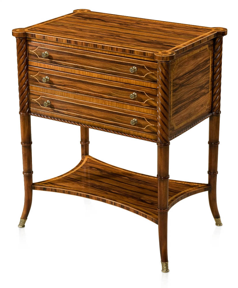 Regency style wild rosewood occasional table