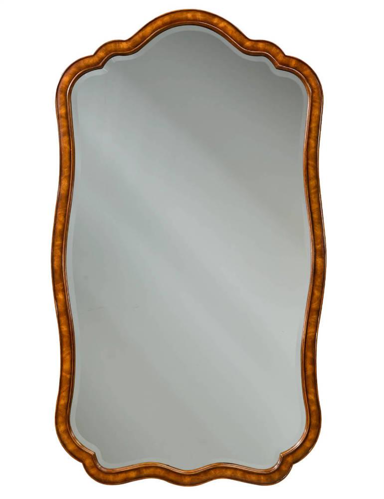 Flame mahogany wall mirror