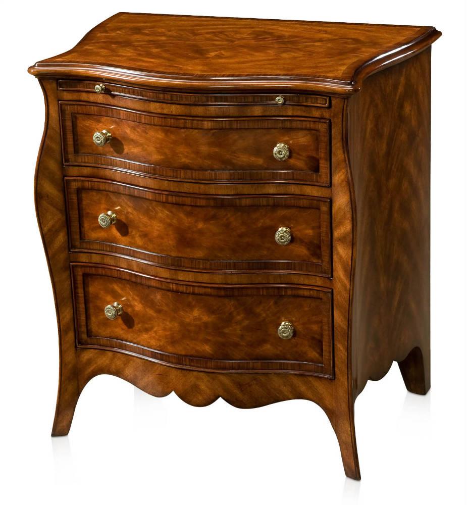 Mahogany serpentine chest