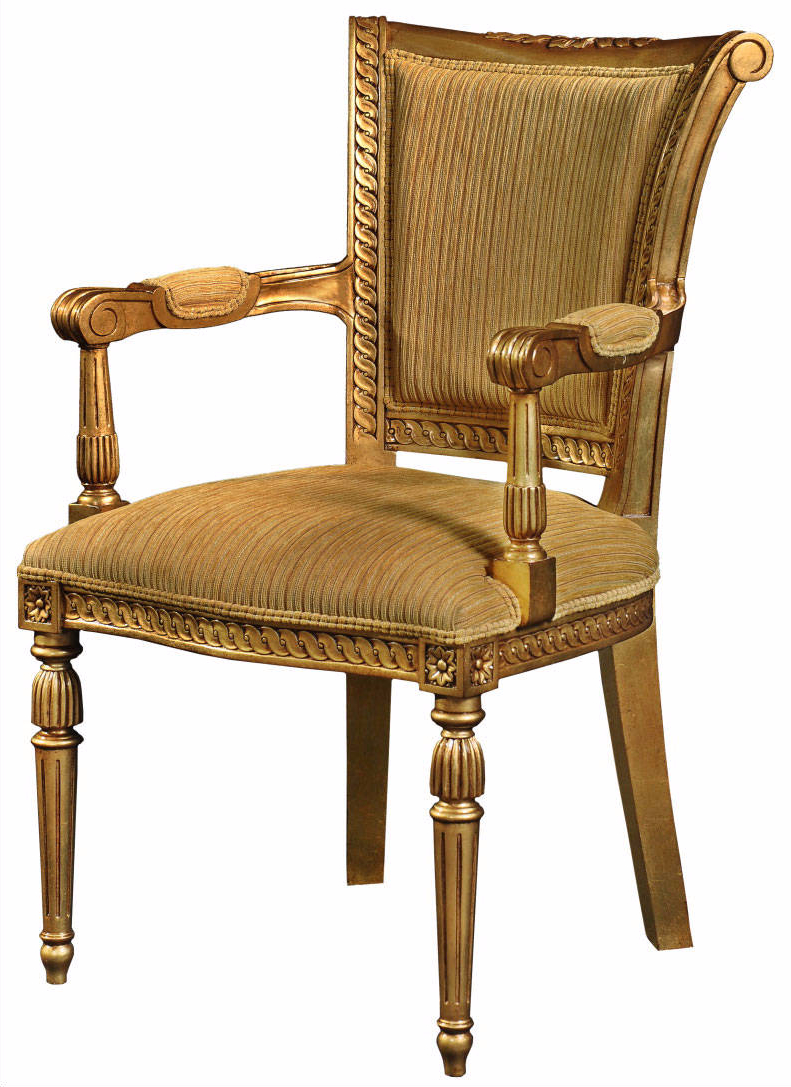 Gilded high back dining arm chair Dining chairs from  : 552814e9cd8f0e4c7014cc76f886bf21102a8 from brightsofnettlebed.co.uk size 791 x 1087 jpeg 552kB