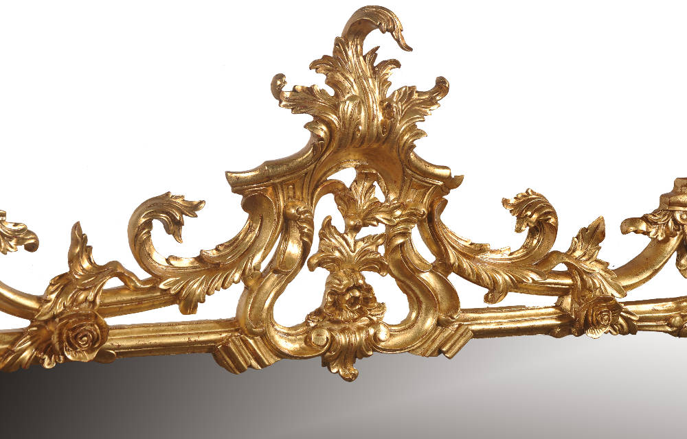 Chippendale style overmantel mirror
