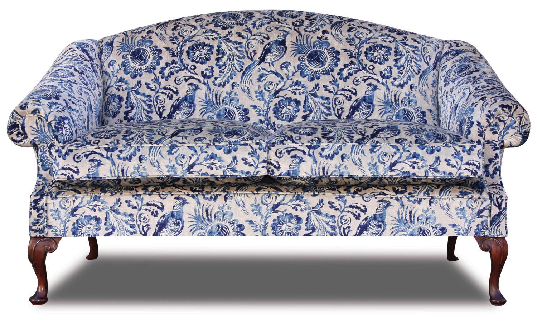 Coleridge 2.5 seat sofa in antiqued velvet print