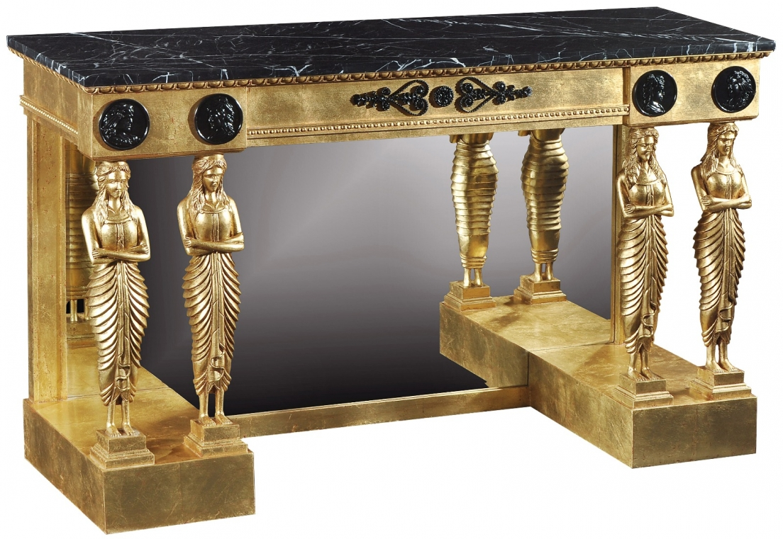 Empire style giltwood console table