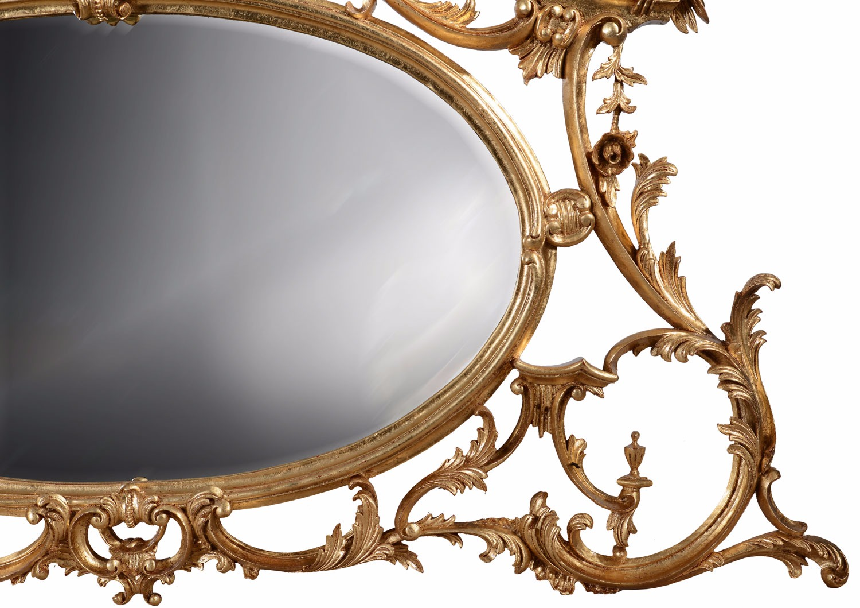 Giltwood overmantel mirror