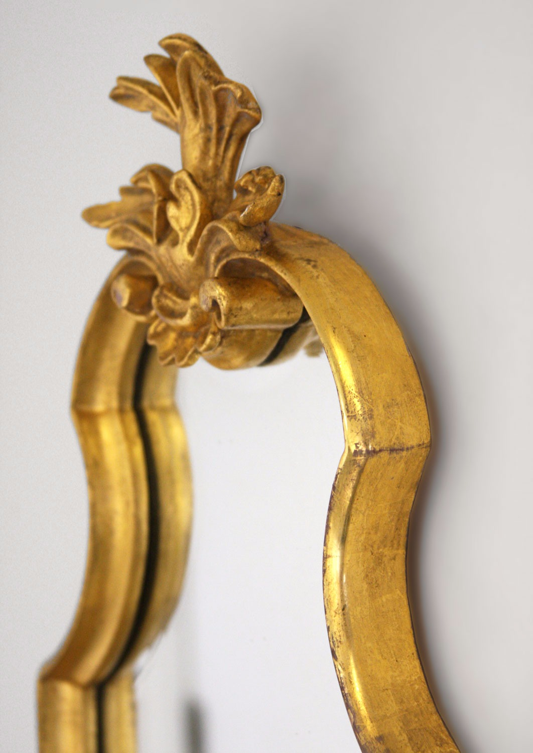 Hand carved French style water gilded mirror