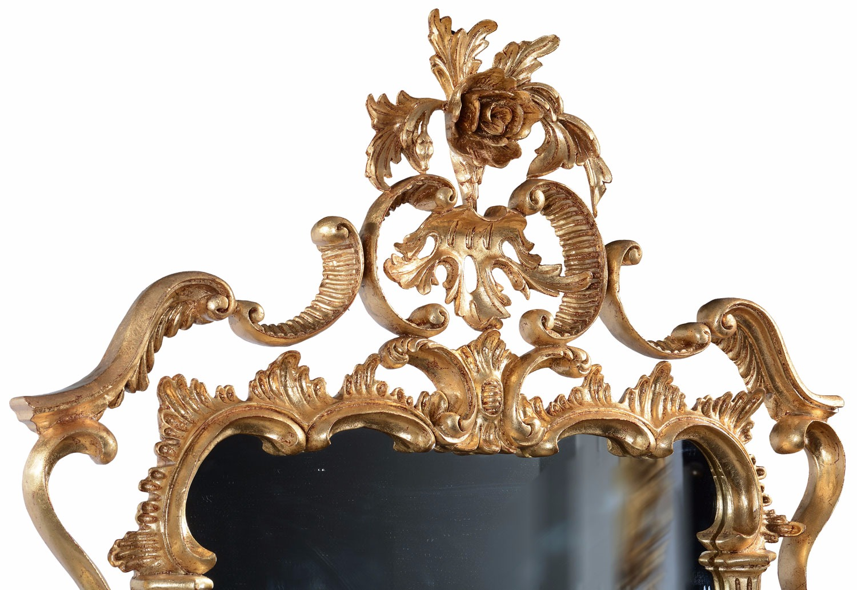 Oil gilded mahogany wall mirror