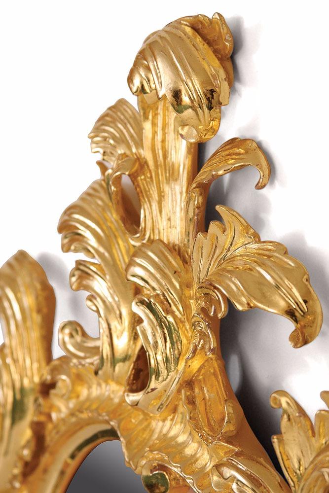 George III style water gilded overmantel mirror