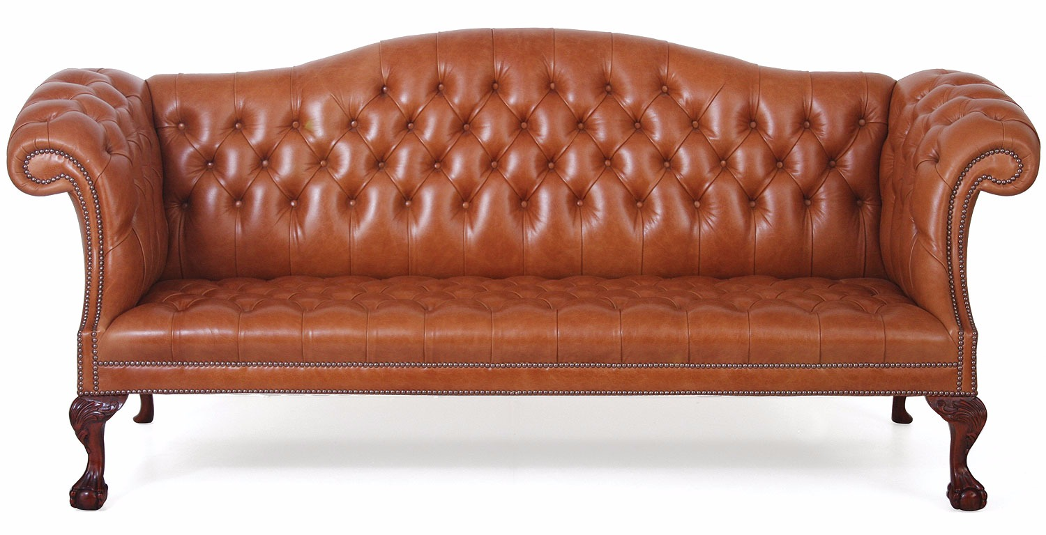 Chatsworth 3 Seat Buttoned Tan Leather Sofa Leather Sofas In Stock From Brights Of Nettlebed