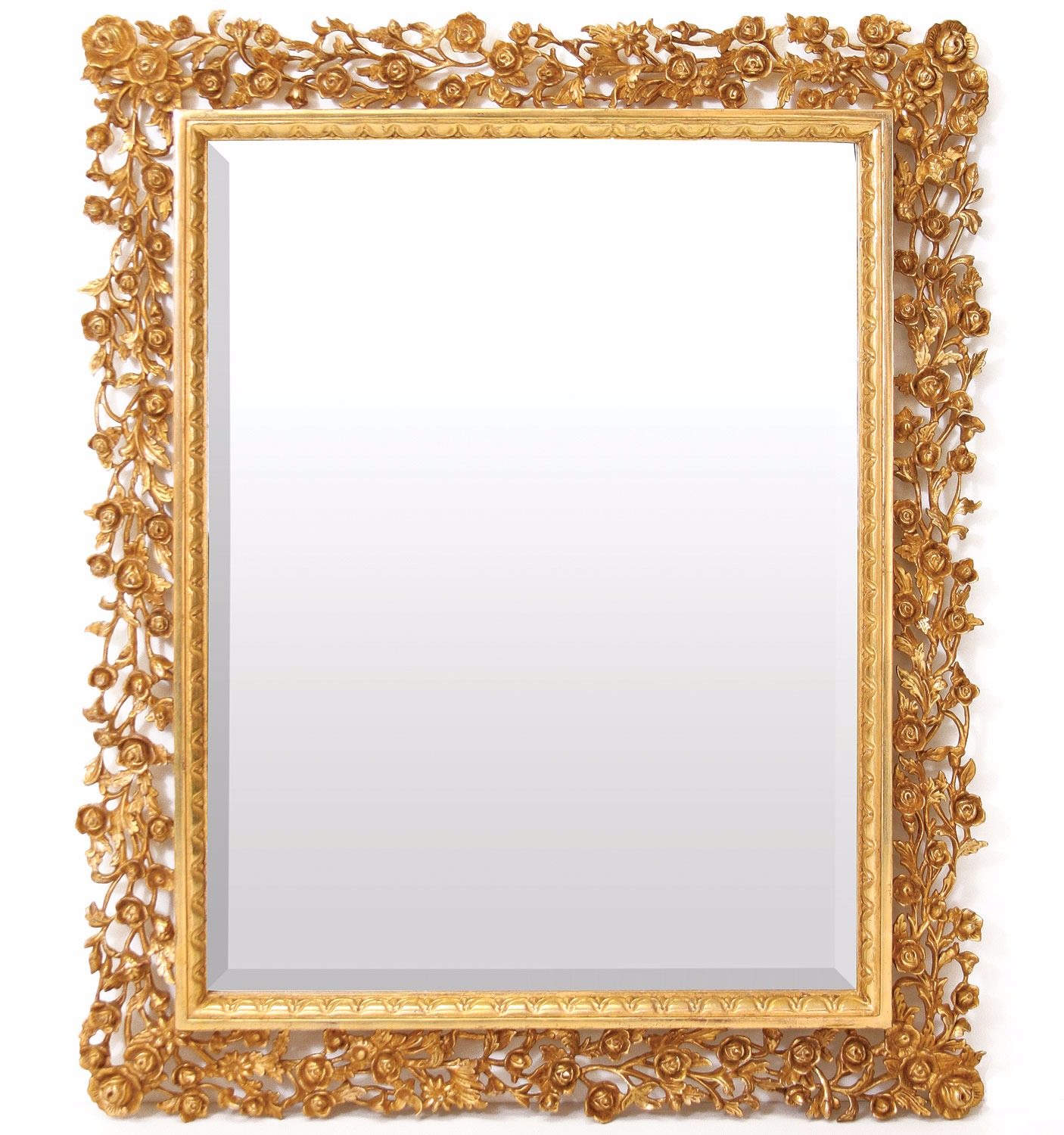 Water gilded hand carved mirror