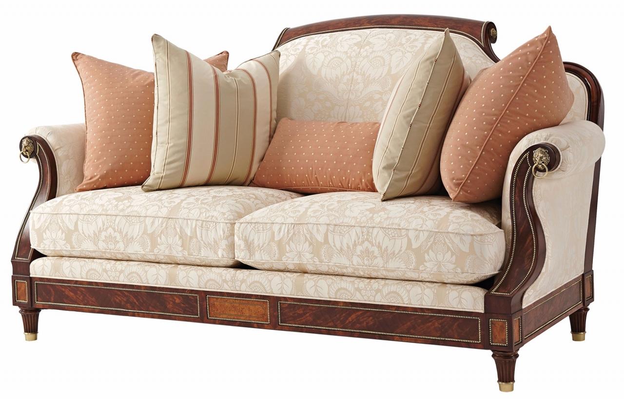 Reynolds small sofa in cotton jacquard