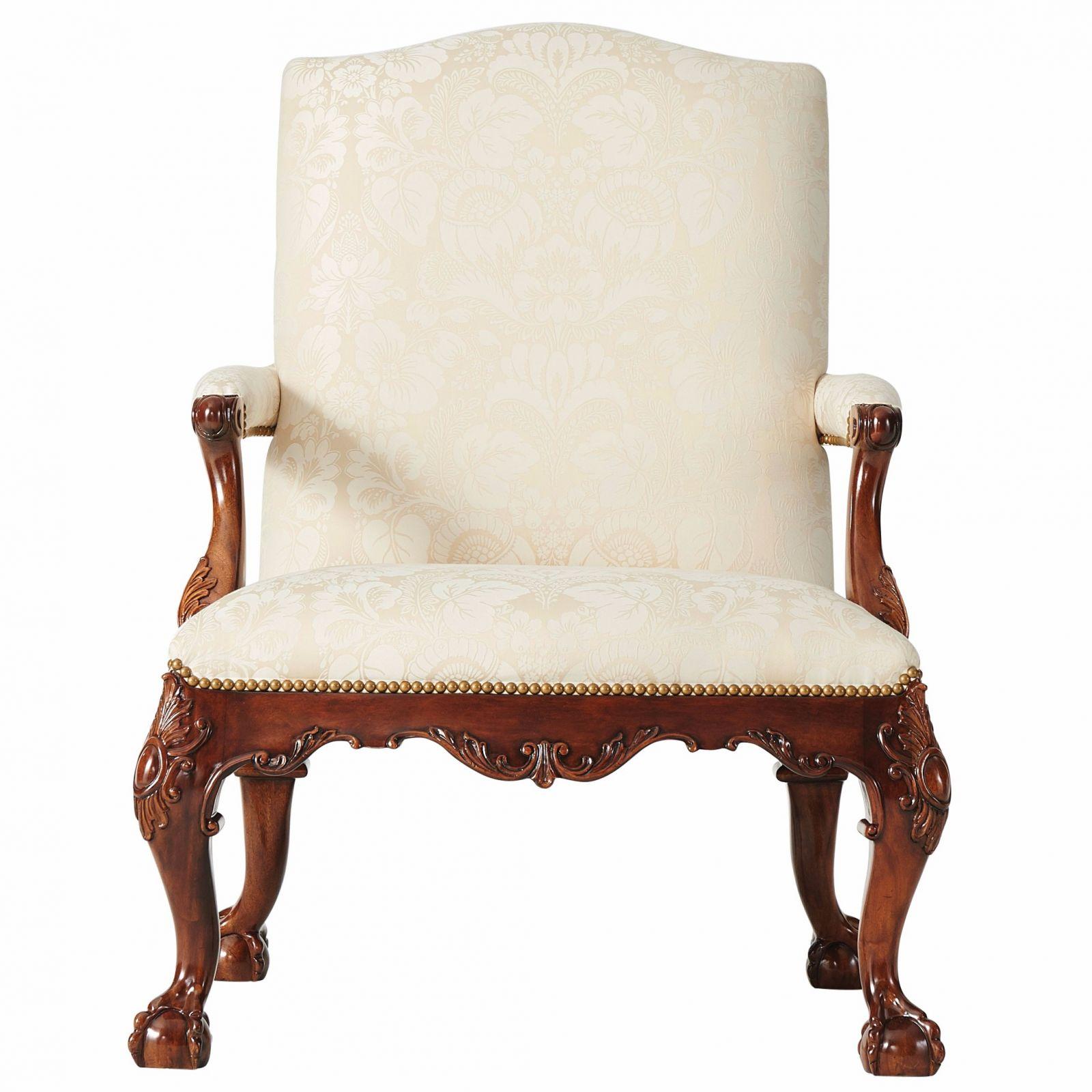 Gainsborough chair in cream cotton jacquard