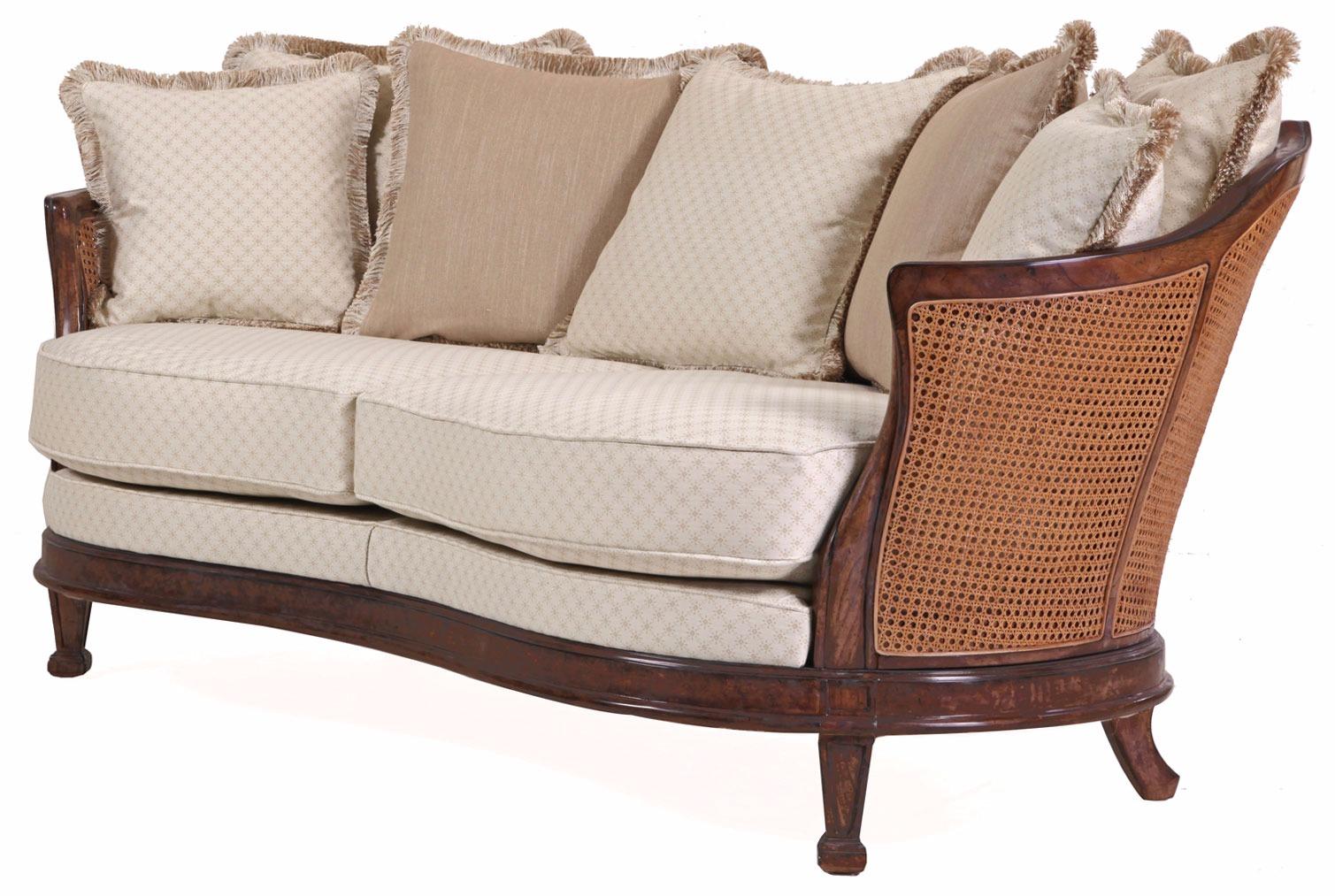 Mauretania sofa with rattan panelling