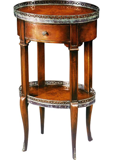 Louis XVI oval lamp table