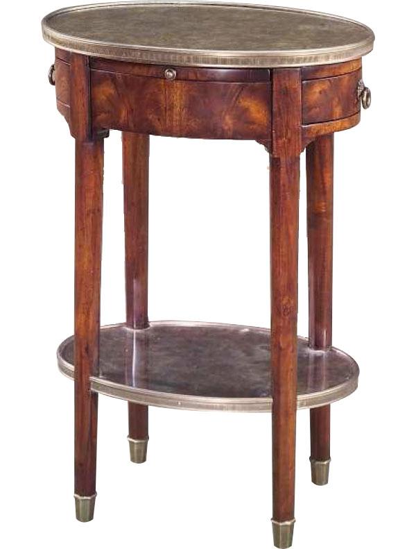 Louis XVI style walnut lamp table