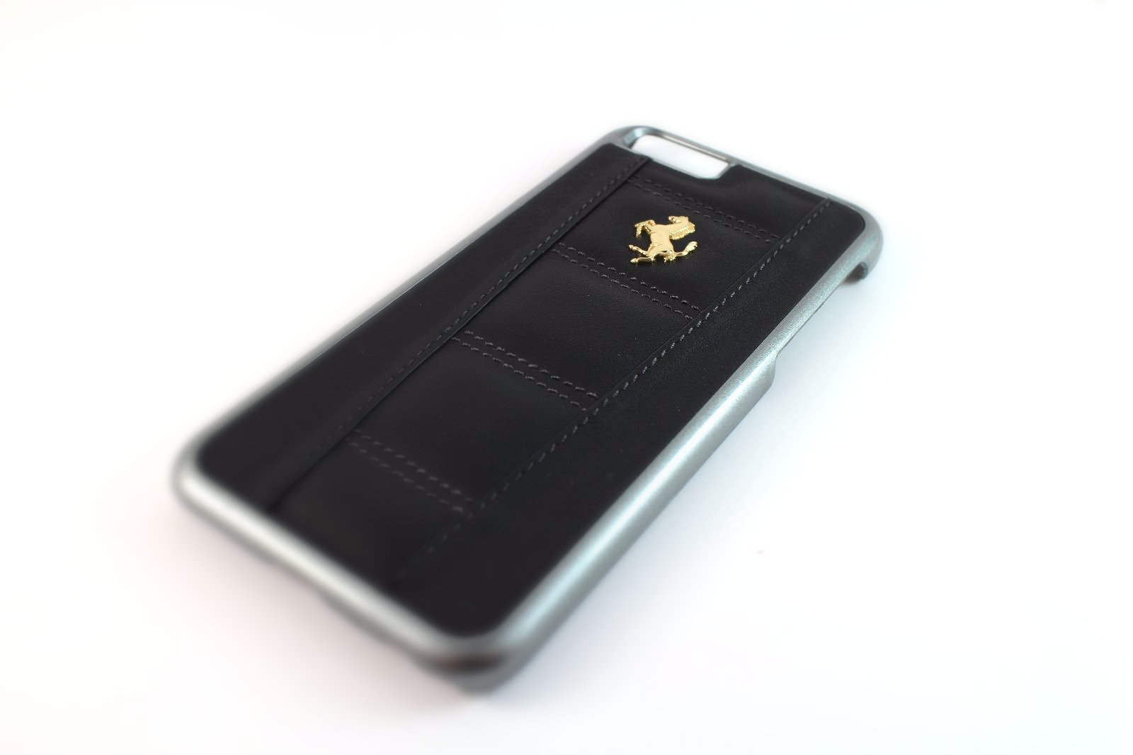 Black And Gold Leather Iphone Case