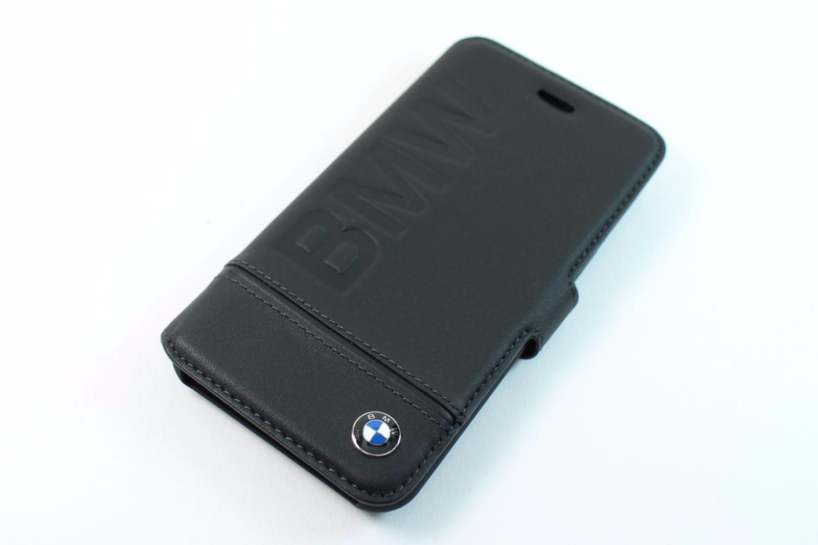 bmw signature booktype iphone 7 wallet case black leather. Black Bedroom Furniture Sets. Home Design Ideas