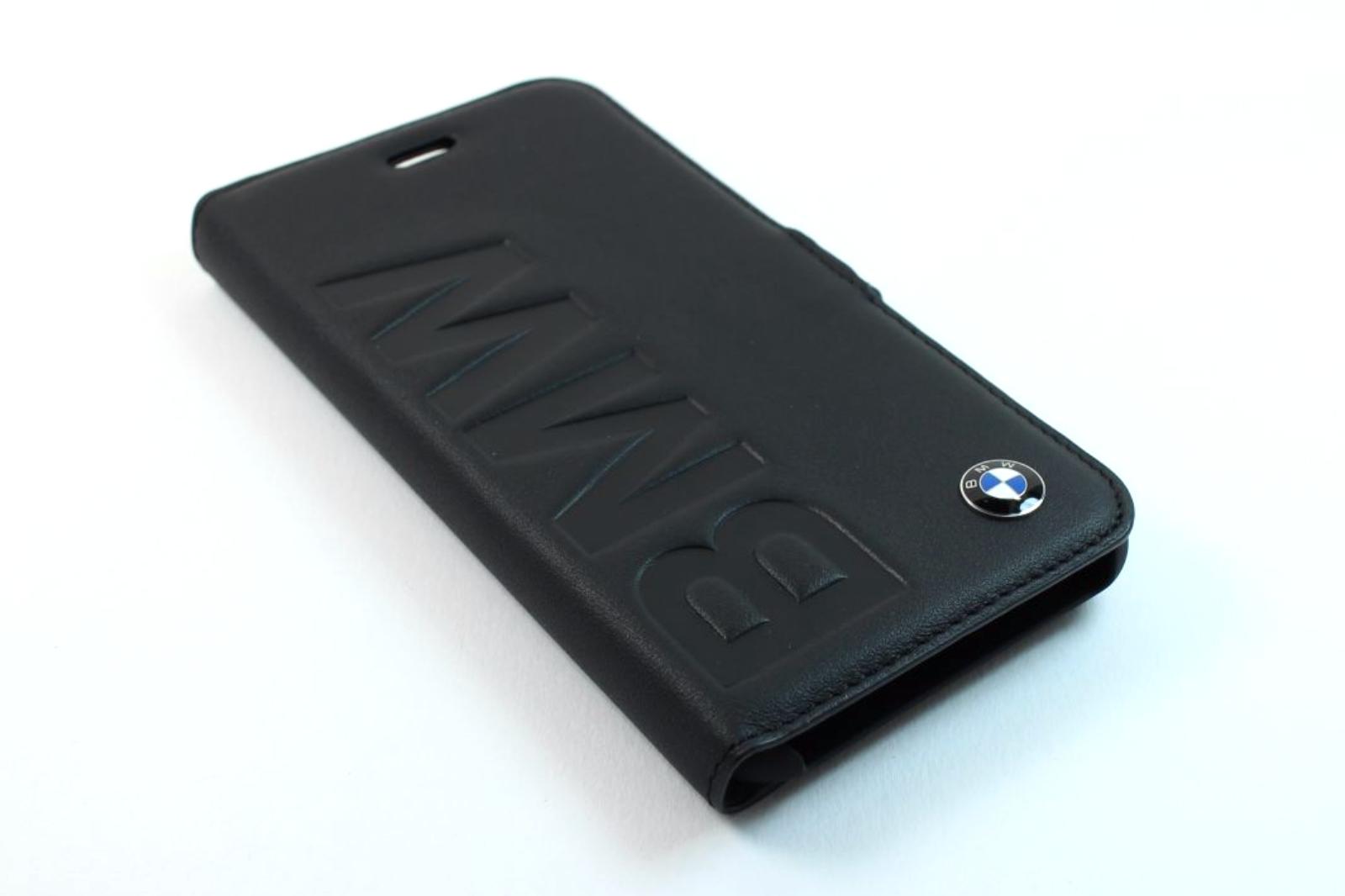 bmw signature iphone 7 booktype wallet case debossed logo. Black Bedroom Furniture Sets. Home Design Ideas