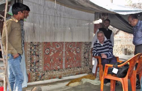 Hand knotted silk carpets licensed by Lord and Lady Carnarvon of Highclere Castle