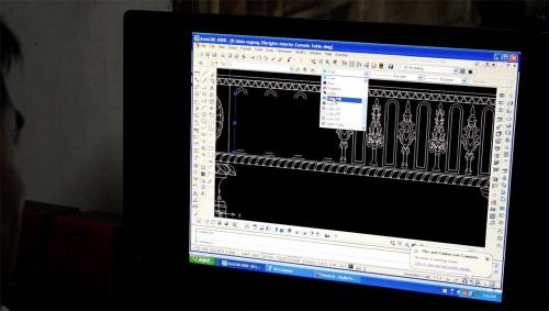 Our draughtsman recreates the design using CAD software to give accurate information to the craftsmen making the piece