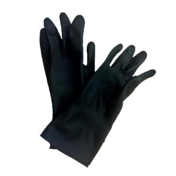 Black Heavy Weight Rubber Gloves Large (1 Pair)