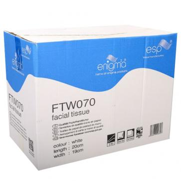 Enigma | Cube Facial Tissues | 2 Ply | White | Case of 24 boxes | FTW070