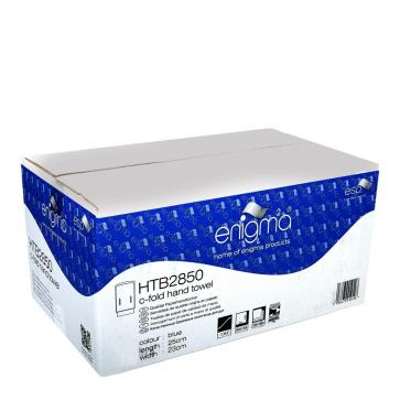 Enigma | C-Fold Hand Towels | 1 Ply | Blue | Box of 2850 | HTB2850