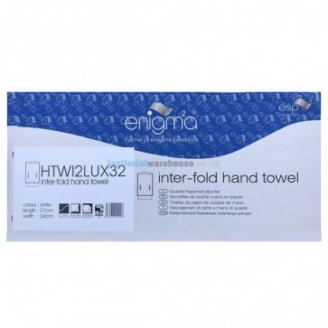 Enigma | Inter-Fold | 2 Ply | White Hand Towels | Box of 3200 | HTWI2LUX32