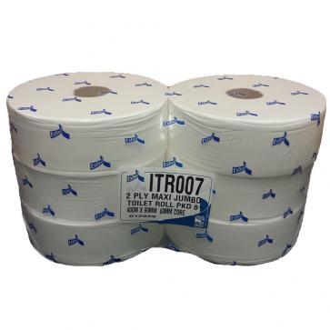 Enigma | Maxi Jumbo Toilet Roll | 2 Ply | White | 6 Rolls