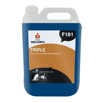 Selden | Triple | Advanced Scrubber Drier Detergent | 5 Litre | F181