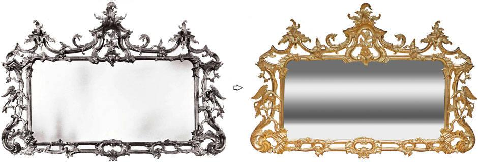 Bespoke gilded mirrors