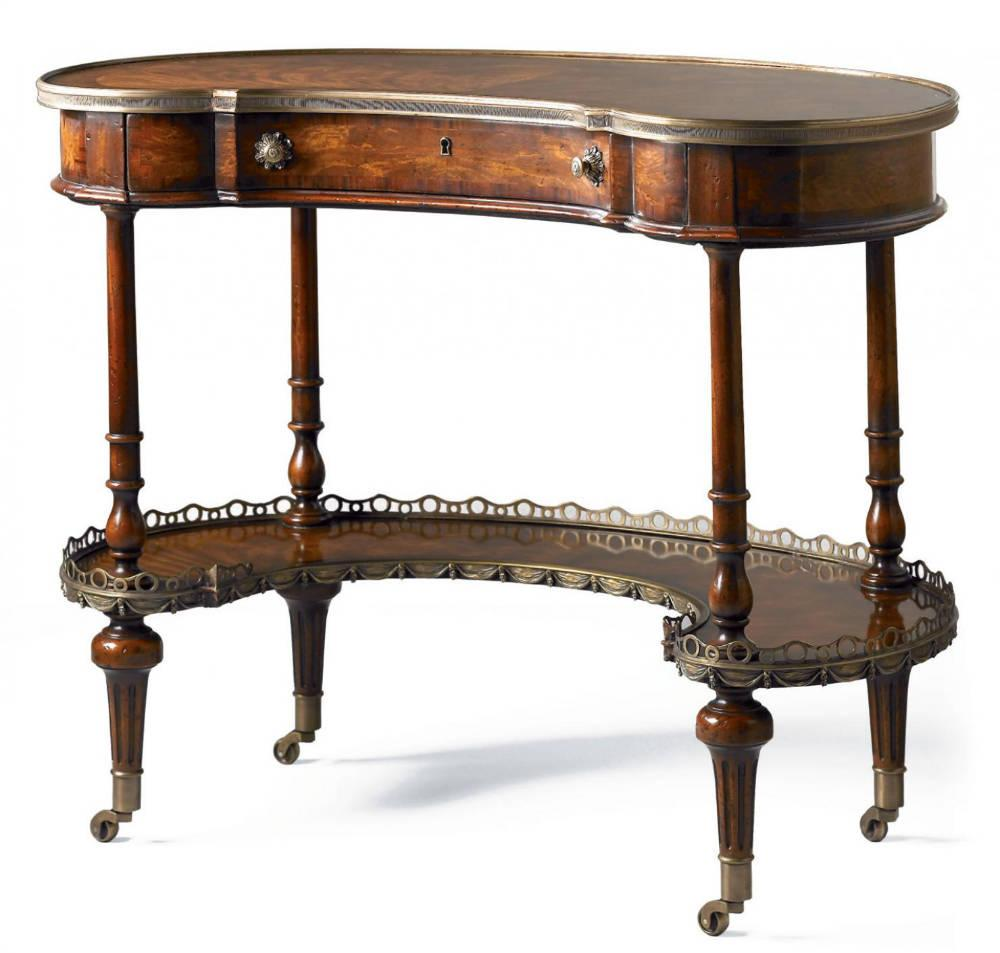 Victorian reproduction furniture - Gillows kidney desk
