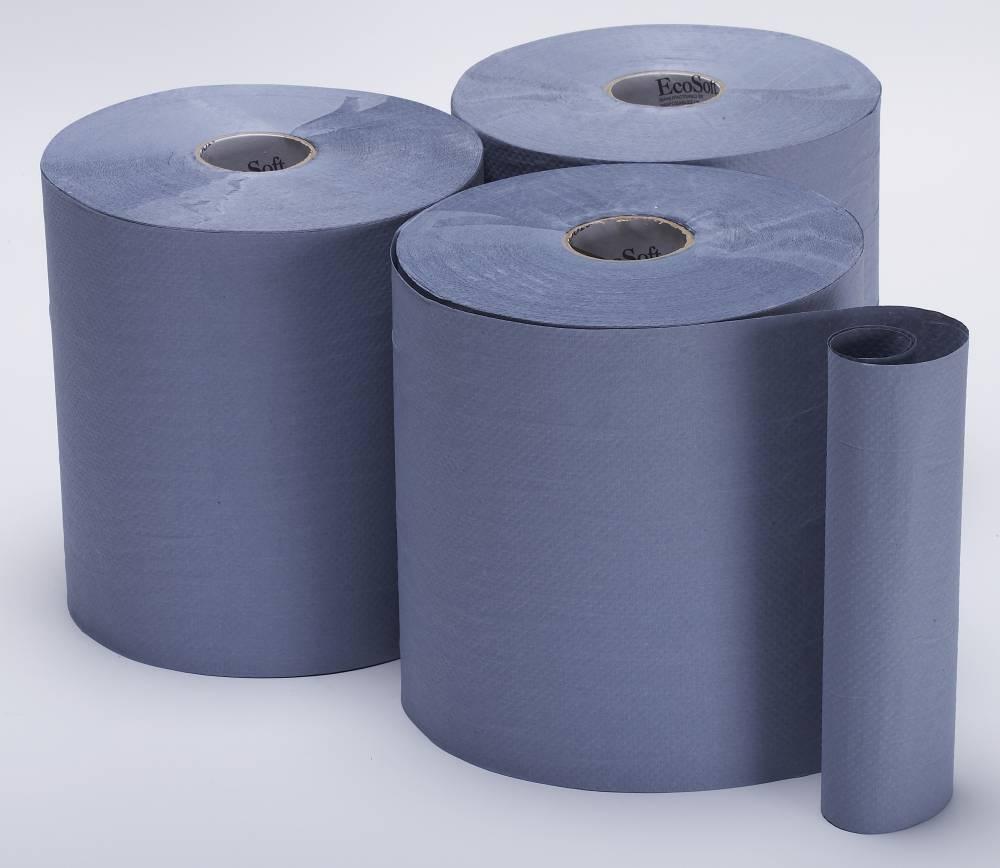 Bay West DublSoft Blue Hand Towel Roll
