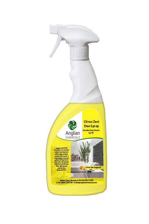 Deodorising Room Spray - Citrus Zest fragrance