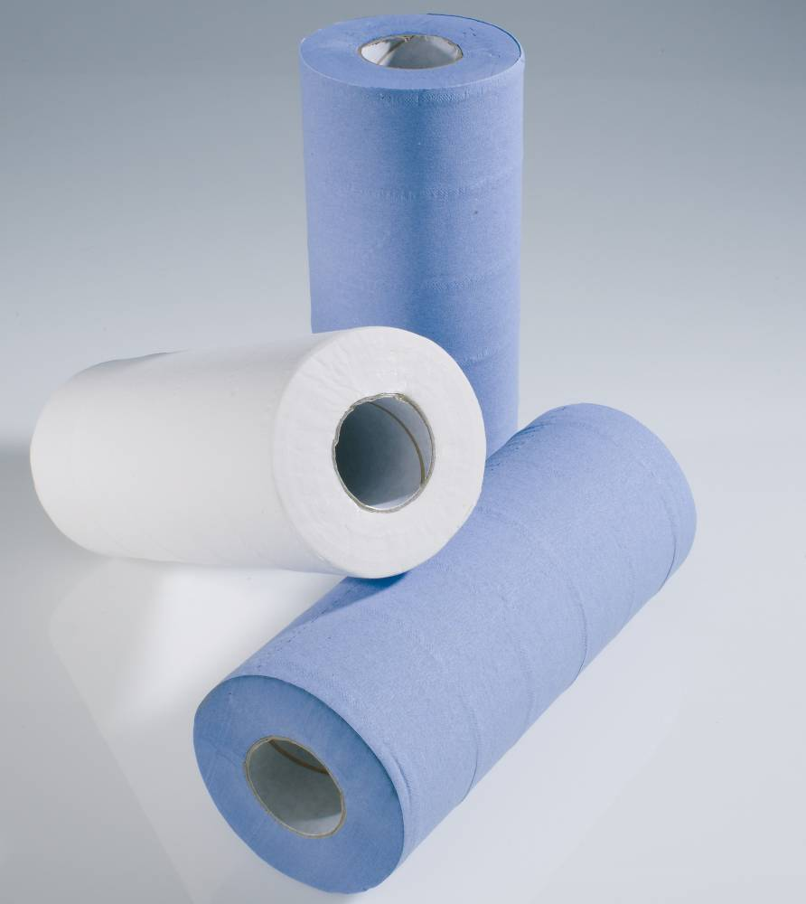 "10"" Blue 2 ply Medical Roll - Recycled"