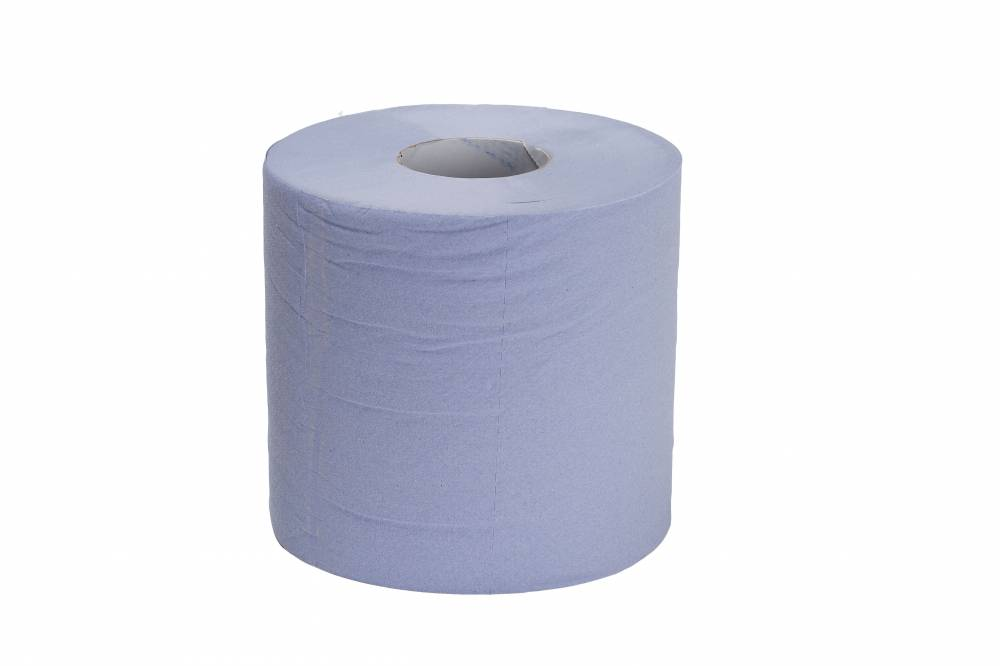 Blue Embossed 2 ply Centre Feed - Recycled