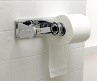 Chrome Twin Toilet Roll Holder