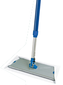 Alloy flat frame for disposable mop