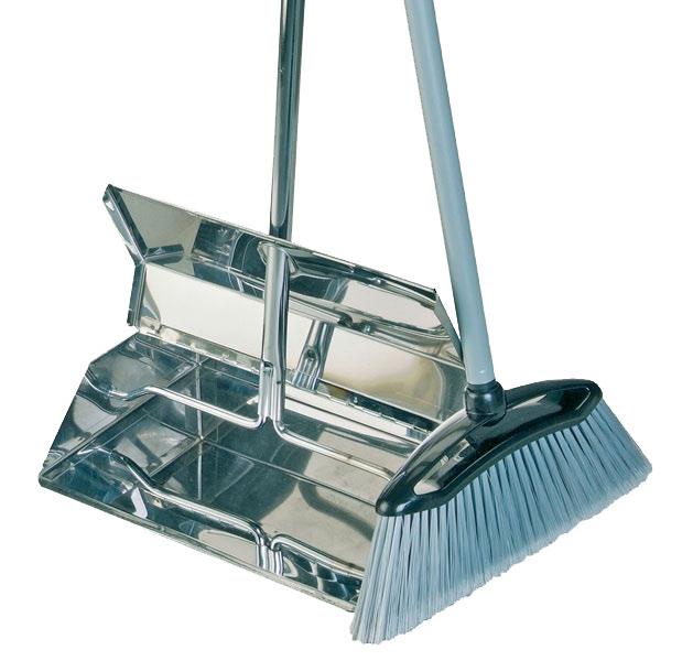 Stainless steel lobby dustpan