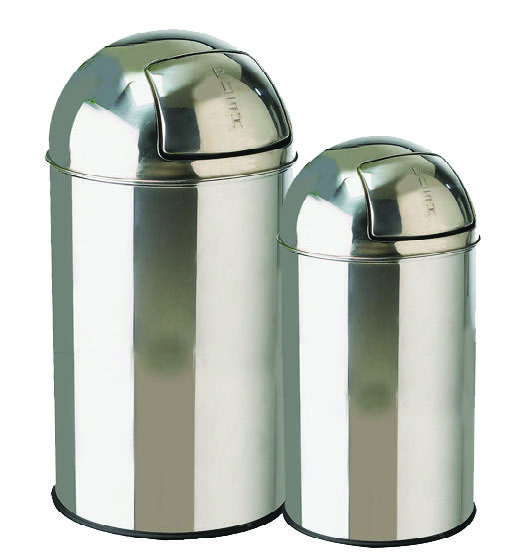 Stainless steel bullet push bin