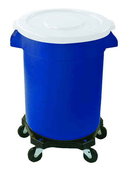 Rounded wheeled bin dolly chassis