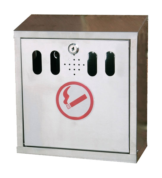 Wall mounted ashtray