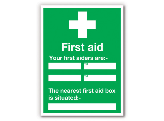 First Aiders PPE Sign