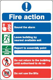 Fire Action Information - PPE Sign